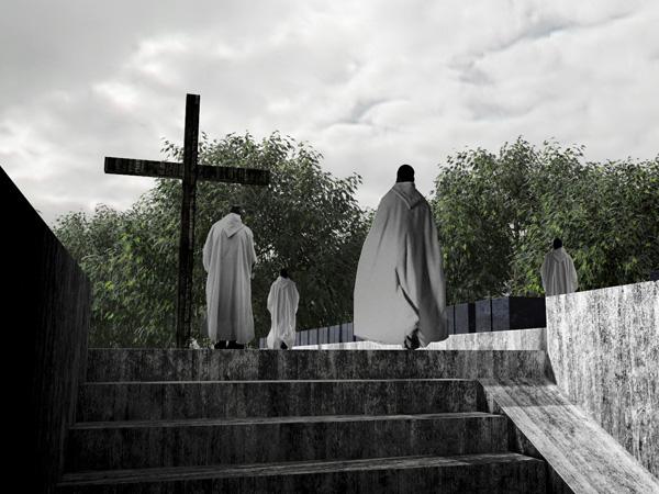 Begraafplaats binnen het Cisterciënzer Klooster