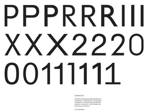 Gedeelte omslag Archiprix 2011